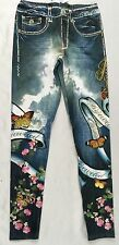 Bejeweled Leggings Jeggings Susan Fixel Butterfly Cherry Blossom 023L Size M