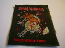 IRON MAIDEN – very rare old original 80s WORLD PIECE TOUR Patch!