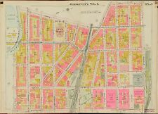 1908 JERSEY CITY, HUDSON COUNTY, NEW JERSEY ST. PETER'S COLLEGE COPY ATLAS MAP