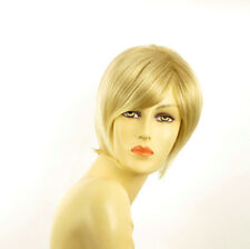Perruque femme courte blond doré méché blond très clair  CECILIA 24BT613