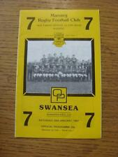 24/01/1987 Rugby Union Programme: Maesteg v Swansea [Welsh Rugby Union Cup] (goo