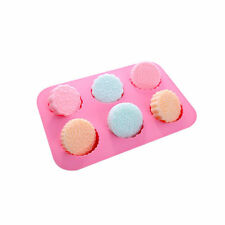 Soap Cake Mooncake 6 Flower Pattern Mold Flexible Silicone Mould Candy Chocolate