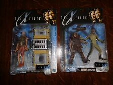 X-FILES TOY LOT 1998 FIGHT THE FUTURE 4 PCS MOC FIREMAN SCULLY MULDER ALIEN