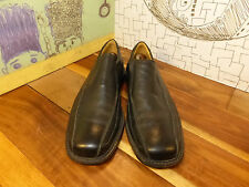 Florsheim Black Leather Loafers Men's 10M #18356 Made in Brazil Sheepskin Lining