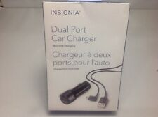 Insignia - Dual USB Universal Car Charger With Mini USB Cable NS-DDC01