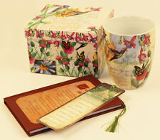 Ceramic Coffee Cup 12oz Mug Painted Birds Bible Verse Matthew 6 With Gift Box