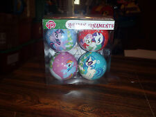 My Little Pony 4 Pack of CHRISTMAS ORNAMENTS Rainbow Dash DJ Pon 3 and more New