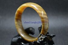 60mm Natural Chinese jade hand-carved bracelet,beautiful brown bangle