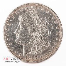 1887 Morgan One Dollar Silver Silber Münze USA Amerika Coin Liberty