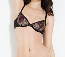 L'AGENT By AGENT PROVOCATEUR Esthar Non Pad Bra Black/Red Size UK 36D BNWT