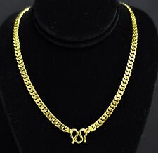 55.10 GRAM 24K FLAT CURB LINK NECKLACE YELLOW GOLD bullion 9999 CHAIN HANDMADE