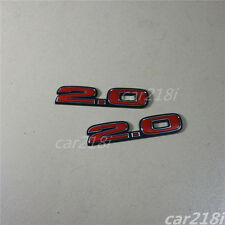 2PCS Red 2.0 civic Plastic Badge Emblem Decal Sticker TYPE-R S Si MUGEN FD2 Logo