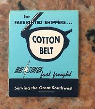 Vintage Cottonbelt Bluestreak Fast Freight Train Reading Glass Cleaners NOS