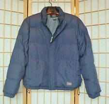 Jacket With Goose Down Insulation Eddie Bauer Men Size L Dark Blue W/ Logo Lt Wt