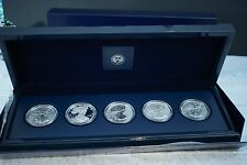 2011-American Eagle 25TH Anniversary Silver (5) Coin Set