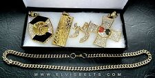 Elvis Style Famous Four Pendant Collection and Chain