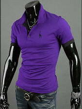 New Men Slim Fit Short Sleeve Polo Shirt Tops Stylish Summer Casual T-Shirts Tee