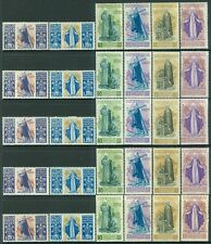 ITALY : 1948. Sassone #547-77, A146-47. 5 sets All are Fresh & VF MNH. Cat €1100