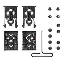 Safariland ELS-KIT1-2 Black Equipment Locking Kits w/ 2 Forks & 2 Receivers