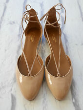Sold Out: aquazzura Alexa Flat Bombas Nude Charol NWB IT39.5/UK6.5 £ 425