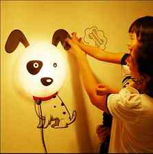 Cute Dog DIY  Wallpaper Wall Sticker Night Light Lamp kids gift Home Decro LR05
