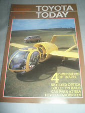 Toyota Today magazine brochure Autumn 1984