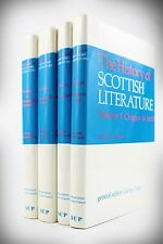 1987*THE HISTORY OF SCOTTISH LITERATURE*4 VOLUMES*MIDDLE AGES>20th CENTURY*1ST*