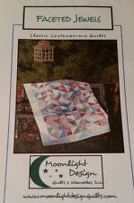 Faceted Jewels Multi Size Quilt Pattern by Moonlight Designs-FREE US SHIPPING!
