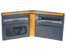 Visconti Slim Bifold Leather Wallet For Credit Cards, Notes, Coins - Pablo PM101