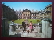 POSTCARD BEDFORDSHIRE WOBURN ABBEY - EAST FRON DUKE & DUCHESS OF BEDFORD