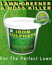 Iron Sulphate 1 KG Tub Moss Killer, Lawn Feed and Conditioner 200-500 Sq mtrs