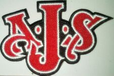 AJS shaped letters sew on cloth patch   (yy)
