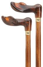 Made in Germany Amber Palm Grip Handle-Cherry Shaft-Right Hand Use Walking Cane
