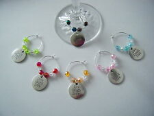 set of 6 wine glass charms Live Laugh Love ideal birthday or dinner party gift