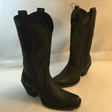 Ariat Western Cowboy Cowgirl Stitched Embroidered Boot Black Leather 7 B