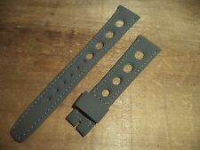 18 mm Grey GT3 Rally racing Tropic watch strap band Sport large perforated holes