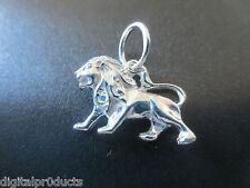 Löwe 925 Silber Kettenanhänger Sternzeichen Glücksbringer Lion Anhänger Leo