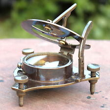 Vintage Antique Brass Navigation Compass Maritime Astrolabe Camping Compass Gift