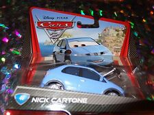 "DISNEY PIXAR CARS ""NICK CARTONE"" Die-Cast Metal, Scale 1:55, Mattel, NEW"