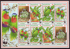 NIUAFO'OU  1998 BIRDS  UNMOUNTED MINT SHEETLET OF 8