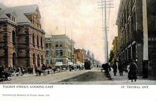 St.Thomas,Ontario,Canada,Talbot Street Looking East,c.1909