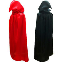 HALLOWEEN ADULT BLACK & RED CAPE MEDIUM COLLAR.LARGE,HOODED,WITHOUT COLLAR CAPE