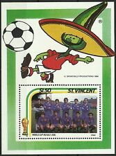 St Vincent Sport Coupe du Monde Mexico Football World Fifa Cup Fußball ** 1986