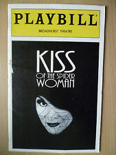 1994 PlayBill Broadhurst Theatre Programme:KISS OF THE SPIDER WOMAN, Vol.94,no8