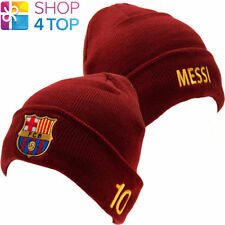 FC BARCELONA LIONEL MESSI 10 TURN UP STRICKMÜTZE FUßBALL FOOTBALL VEREIN NEU