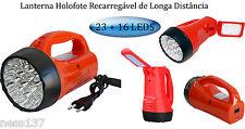 NOUVEAU !! 2 EN 1 Lampe Torche & de Bureau Rechargeable à Batterie 23 + 16 Led