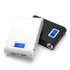 30000mAh Power Bank 2 USB LED LCD External Backup Battery Charger For Cell Phone
