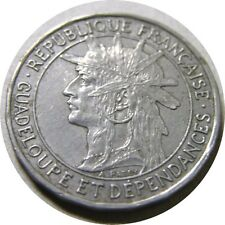 elf Guadeloupe 1 Franc 1921  Native Chief