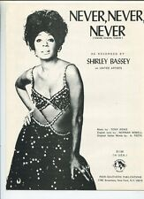 Never,Never,Never  Shirley Bassey   Sheet Music
