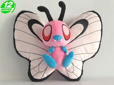 """Pokemon Pink Shiny Butterfree 12"""" Anime Figure Plush Toy Doll Collectible"""